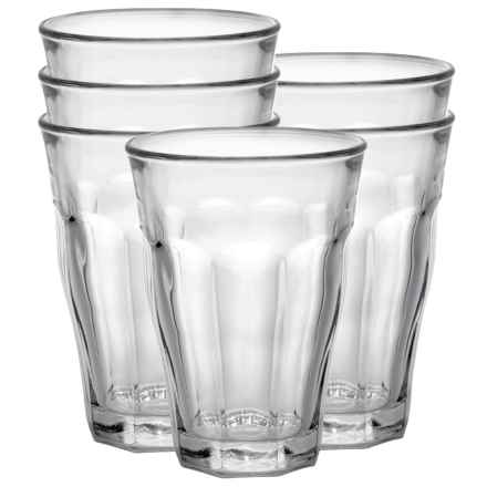 Duralex Picardie Tumbler Glasses - 17.6 fl. oz., Set of 6 in Clear - Closeouts