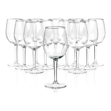 Duralex Red Wine Glasses - 15-3/8 oz., Set of 12 in Clear - Closeouts