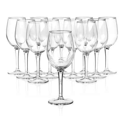 Duralex Wine Glasses - 9 oz., Set of 12 in Clear - Closeouts
