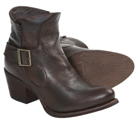 Durango City Philly Ankle Boots - Leather (For Women) in Distressed Chocolate