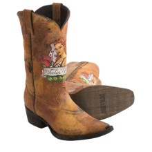 Durango Gambler Pin-Up Cowboy Boots - Leather, Snip Toe (For Men) in Brown - Closeouts