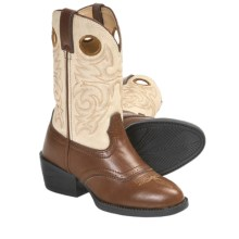 Durango Lil' Partners Western Boots (For Boys and Girls) in Peanut/Tan - Closeouts