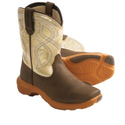 Durango Lil' Rebelicious Cowboy Boots (For Boys and Girls) in Chocolate/Yellow Ginger
