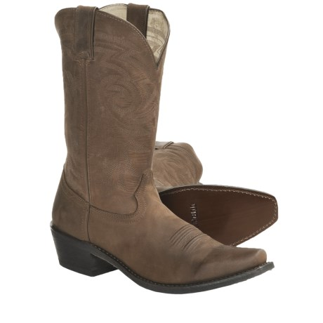 Durango Nubuck Cowboy Boots (For Men) in Tan