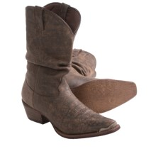 Durango Slouch Western Boots - Snip Toe (For Men) in Distressed Brown - Closeouts