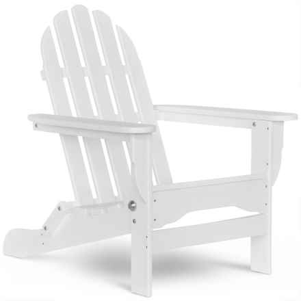 Durogreen Outdoor Folding Recycled Adirondack Chair in White - Closeouts