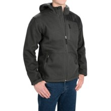 Dutch Harbor Gear Sherpa-Lined Hooded Jacket - Full Zip (For Men and Big Men) in Dark Charcoal - Closeouts
