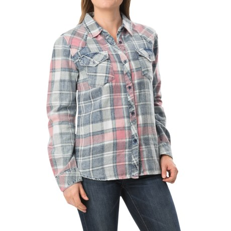 dylan American Plaid Shirt Long Sleeve (For Women)