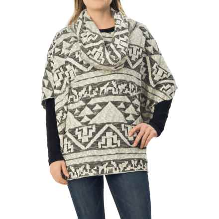 dylan Arrowhead Sweater Poncho - Cowl Neck (For Women) in Natural - Closeouts