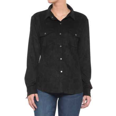 dylan Bandit Faux-Suede Ranch Shirt - Snap Front, Long Sleeve (For Women) in Black - Closeouts