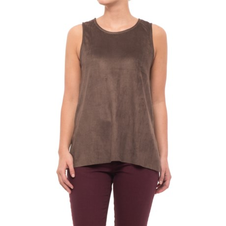 dylan Bandit Faux-Suede Shirt - Sleeveless (For Women) in Brown