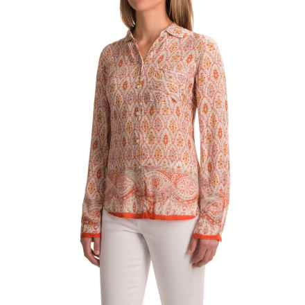 dylan Belle Brocade Shirt - Long Sleeve (For Women) in Poppy - Closeouts