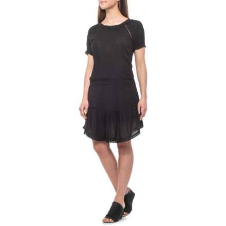 dylan Black Shay Dress - Short Sleeve (For Women) in Black - Closeouts