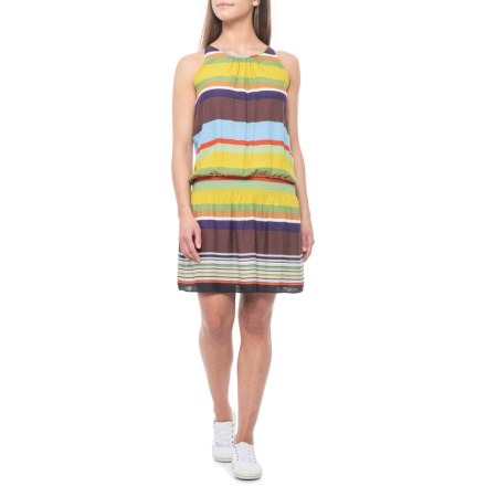 377a005904d dylan Brown Vintage Casey Stripe Tank Dress - Sleeveless (For Women) in  Brown -