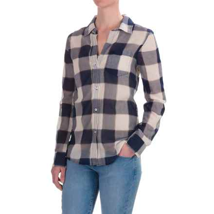 dylan Buffalo Plaid Blouse - Long Sleeve (For Women) in Indigo - Closeouts
