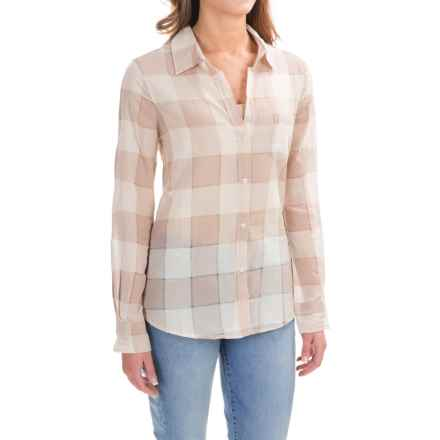 dylan Buffalo Plaid Blouse - Long Sleeve (For Women) in Vintage Khaki - Closeouts