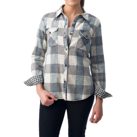dylan Buffalo Plaid Shirt Fully Lined, Long Sleeve (For Women)