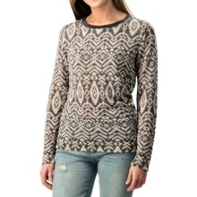 dylan Burnout Navajo Shirt - Long Sleeve (For Women) in Vintage Black - Closeouts