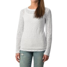 dylan Burnout Navajo Shirt - Long Sleeve (For Women) in White - Closeouts