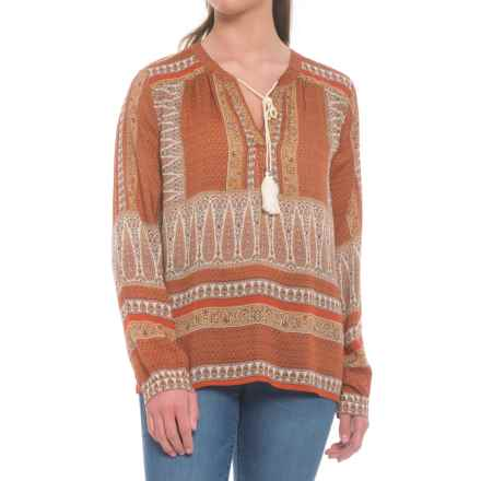 dylan Butera Shirt - Long Sleeve (For Women) in Burnt Orange - Closeouts