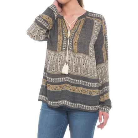 dylan Butera Shirt - Long Sleeve (For Women) in Grey/Black - Closeouts