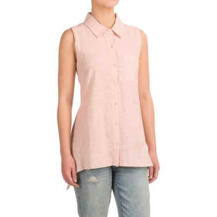 dylan Button Shirt - Sleeveless (For Women) in Blush - Closeouts