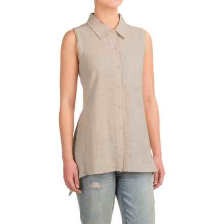 dylan Button Shirt - Sleeveless (For Women) in Faded Olive - Closeouts