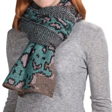 Dylan by True Grit Andy Scarf - Mohair-Alpaca-Wool (For Women) in Bark/Vintage Turquoise - Closeouts
