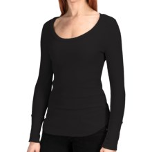 Dylan by True Grit Cotton Thermal Shirt - Scoop Neck, Long Sleeve (For Women) in Black - Closeouts