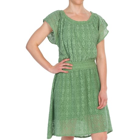 Dylan by True Grit Crochet Dress - Short Sleeve (For Women) in Fresh Green