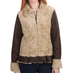 Dylan by True Grit Dixon Jacket - Faux Fur, Shawl Collar (For Women) in Dark Brown