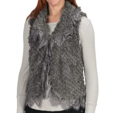 Dylan by True Grit Embossed Silky Vest (For Women) in Grey - Closeouts