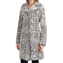 Dylan by True Grit Faux-Fur Long Coat (For Women) in Black/Natural - Closeouts