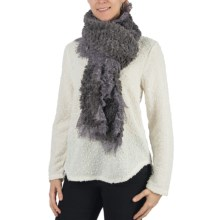 Dylan by True Grit Faux-Fur Scarf - Lace Trim (For Women) in Grey - Closeouts