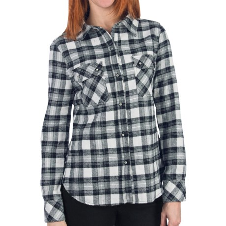 Dylan by True Grit Harley Work Shirt - Flannel, Long Sleeve (For Women) in Black/Heather