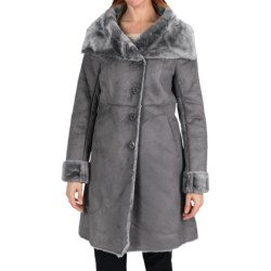Dylan by True Grit Long Faux-Shearling Jacket (For Women) in Flannel