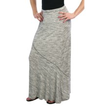 Dylan by True Grit Monochrome Silky Stripe Long Skirt (For Women) in Black/White - Closeouts