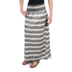 Dylan by True Grit Smock Long Skirt - Cotton Voile (For Women) in Black
