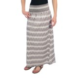 Dylan by True Grit Smock Long Skirt - Cotton Voile (For Women)