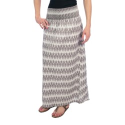 Dylan by True Grit Smock Long Skirt - Cotton Voile (For Women) in Malt Brown