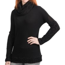 Dylan by True Grit Sparkle Shirt - Faux Mohair, Cowl Neck, Long Sleeve (For Women) in Black - Closeouts
