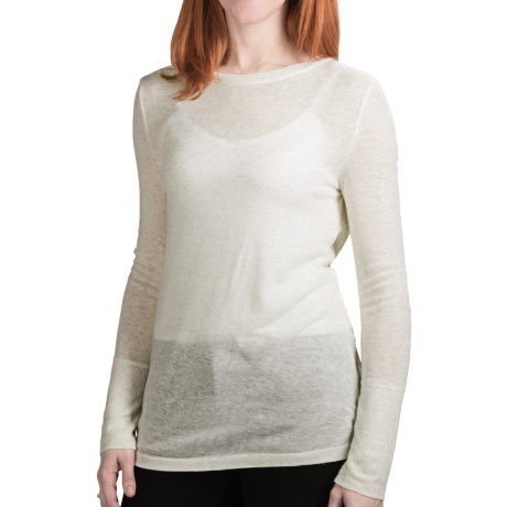 Dylan by True Grit Twinkle Heather T-Shirt - Long Sleeve (For Women) in White