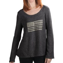 Dylan by True Grit Vintage Flag Sweater - Scoop Neck (For Women) in Vintage Charcoal - Closeouts