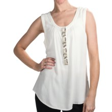 Dylan by True Grit Vintage Jewels Tank Top - Rayon (For Women) in White - Closeouts