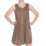 Dylan by True Grit Vintage Pintuck Dress - Linen, Sleeveless (For Women)
