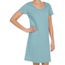 Dylan by True Grit Vintage T-Shirt Dress - Slub Cotton, Short Sleeve (For Women) in Sea - Closeouts