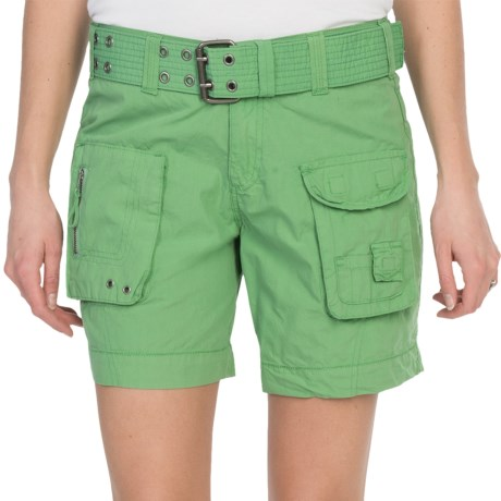 Dylan by True Grit Washed Shorts (For Women) in Fresh Green
