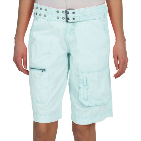 Dylan by True Grit Washed Utility Bermuda Shorts - Cotton (For Women) in Foam