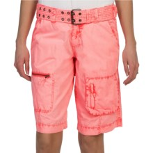 Dylan by True Grit Washed Utility Bermuda Shorts - Cotton (For Women) in Highlighter - Closeouts