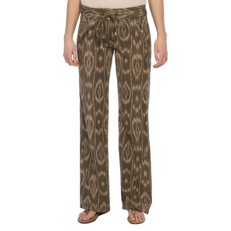 Dylan by True Grit Woven Drawstring Pants (For Women) in Charcoal